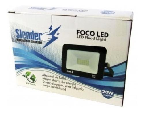 Foco Refl.led 20w 150x105x25mm(2000lúm)luz Fría Slender