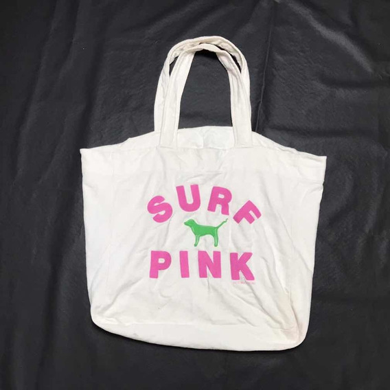 Bolsa Playa Surf Pink Blanca Victoriasecret