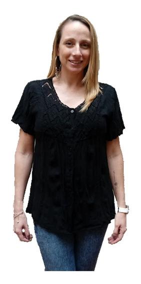 Camisa Mujer Hindú Zig-zag Algodón L Xl Xxl Xxxl Mythos