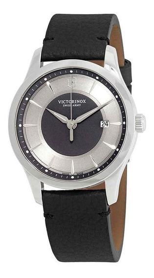 Relógio Victorinox 241804 Alliance 40 Couro Preto Original