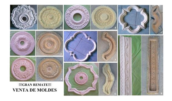 Remate! Moldes De Látex Para Fabricar Moldura Rosetones Yeso