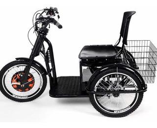 Triciclo Motor Elétrico Novo Modelo Sistema Redutor Quedas