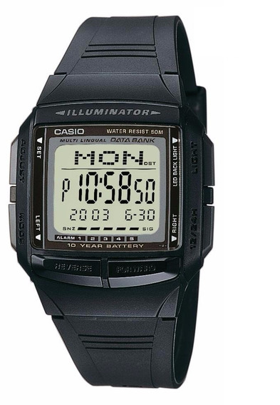 Relogio Casio Db 36-1 Data Bank 30memo 5alarm Cron Na Caixa