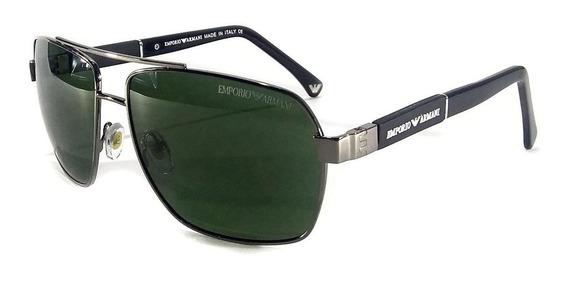 Oculos De Sol Masculino Ea3074 Armani Premium Tamanho G Moda