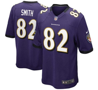 Camisa Nike Torrey Smith 82 Baltimore Ravens Roxa Masculina