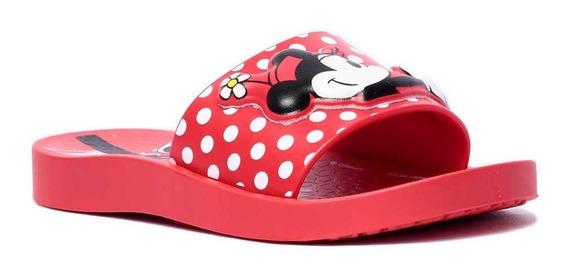 Chinelo Infantil Feminino Ipanema Slide Disney Minnie