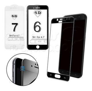 13 Película De Vidro 5d iPhone 7g/8g Preta Cobre 100%