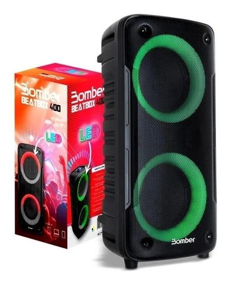 Caixa De Som Bluetooth Bomber Beatbox 400 Portátil 12w Rms