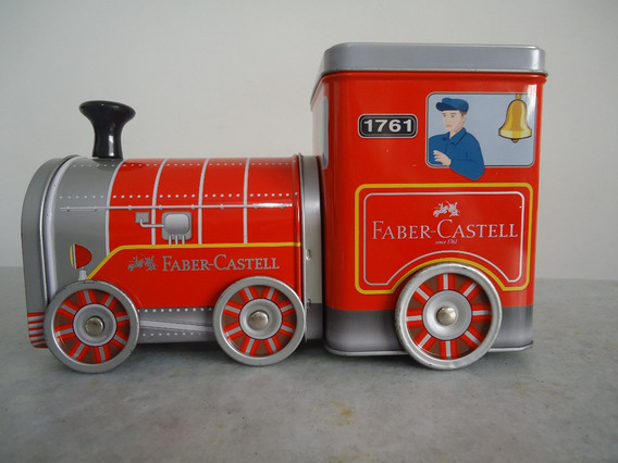 Trenzinho Faber Castell - Estojo De Lata Decorativo