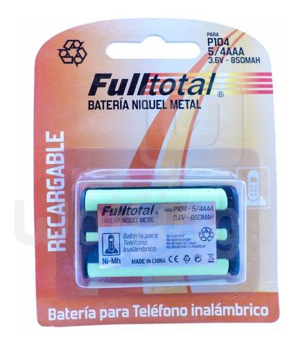 1 Bateria P104 5/4 Aaa Recargable 850 Mah 3.6v Telefonos