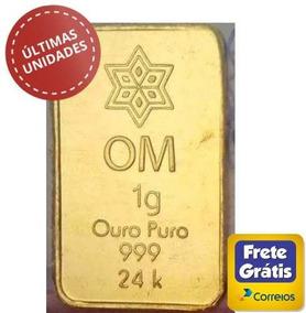 3 Barras De Ouro Puro 24k 1g Cada / Com Certificado