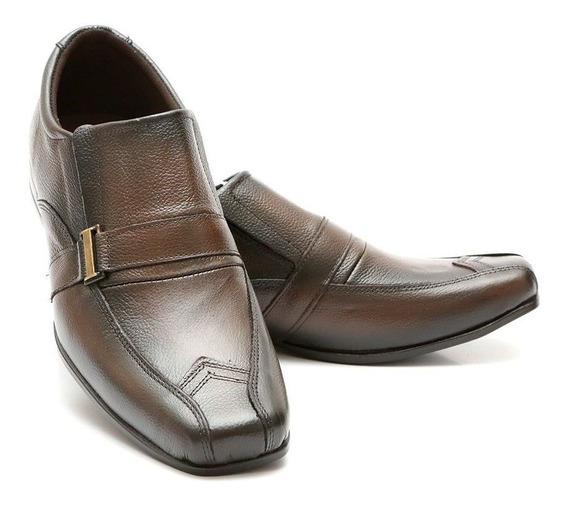 Sapato Social Masculino Couro Preto/marrom