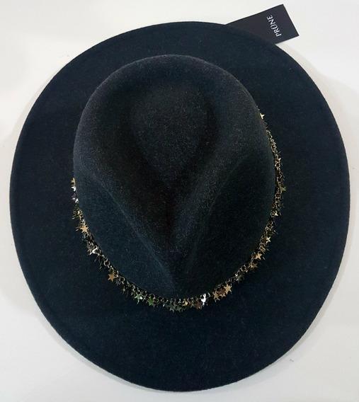 Sombrero Prune De Lana Original Negro