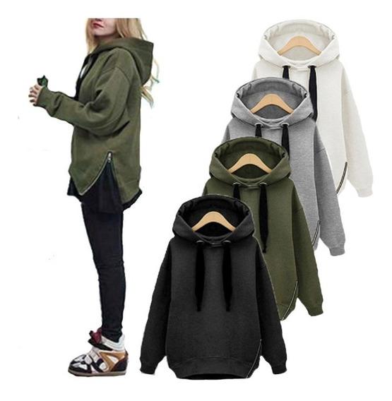 Buzo Mujer Campera Hoodies Camperas Buzo Canguro Friza A02