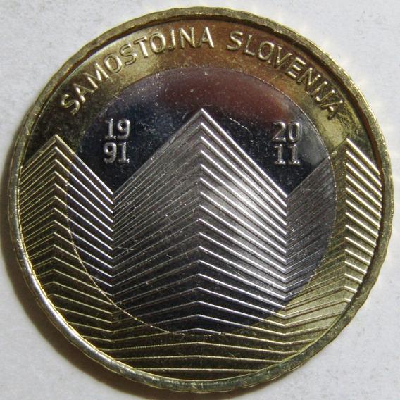 Eslovenia Moneda 3 Euros Bimetalica 2011 Independencia Unc