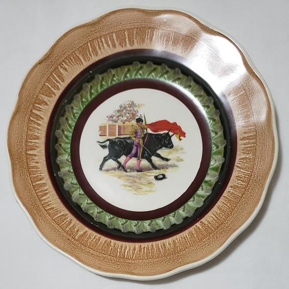 Plato Decorativo Colección Nac. Pintado A Mano 19.5cm Diám.