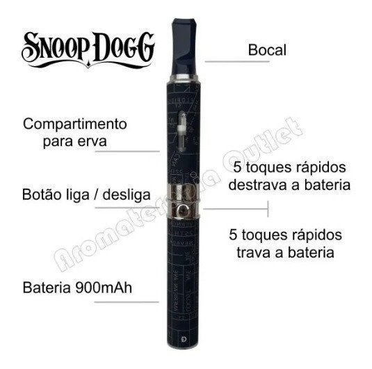 Vaporizador De Ervas Snoop Dog, Elimina Até 80% Do Cheiro.
