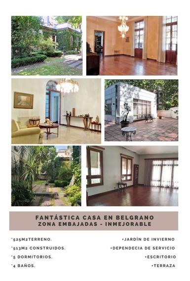 Barrancas De Belgrano. Fantástica Casa De Estilo.