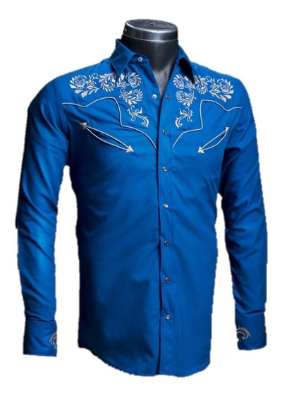 Camisa Rafael Amaya 084ca01 Vaquera Señor De Los Cielos