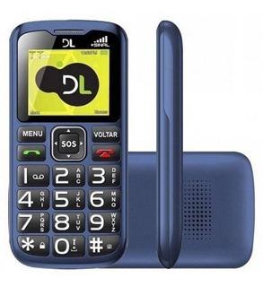 Lote 05 Celular Dl Yc120 Dual Tecla Sos Antena Rural Lacrado