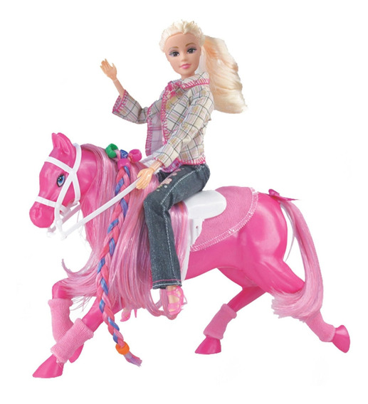 Boneca Cavalo Fashion P/boneca 38cm Lider