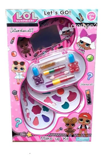 Set Maquillaje Lol Juguete Labial Brillo Pintura Niña Grande