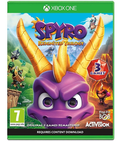 Jogo Spyro Reignited Trilogy Xbox One Disco Físico Original