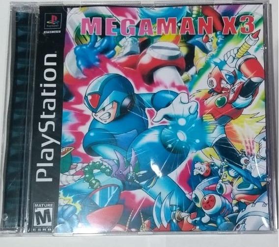 Mega Man X3 Ps1 - Box Acrílico E Encarte Fotográfico - Patch