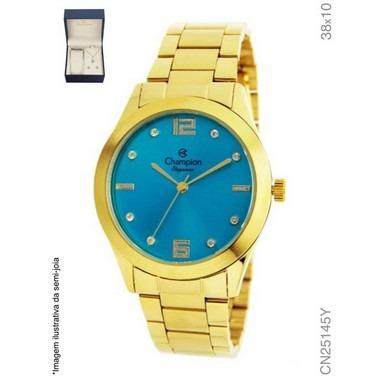 Relógio Champion Analógico Feminino Cn25145y + Kit Semijóia