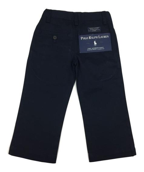 Calça Social De Sarja Azul Marinho Menino Polo Ralph Lauren