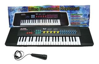 Piano Organo Musical Gr 60cm Microfono Funcion 22358 Bigshop