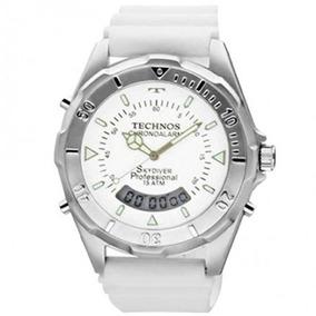 Relógio Technos Masculino Skydiver T20562/8b Branco Anadigi
