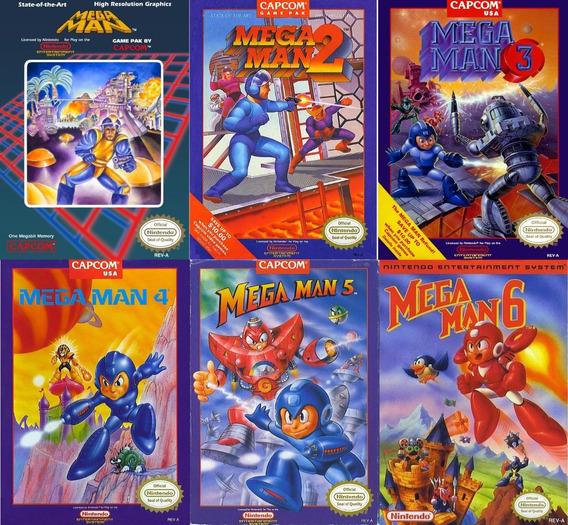Juegos Mega Man 1, 2, 3,4,5 & 6 Nes Pc/android Windows 7/10