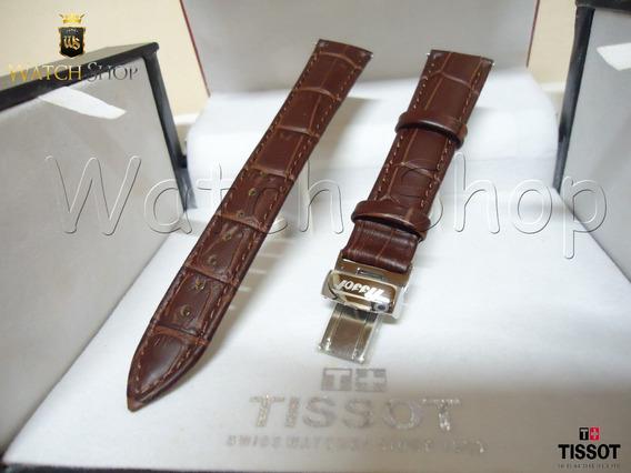 Pulseira De Couro Tissot T95 / T52 18mm Marrom - Original