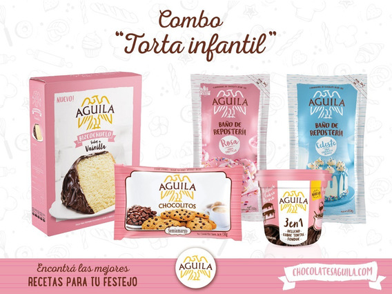 Chocolate Aguila Combo Torta Infantil