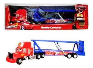 Camión Cars Mack Truck A Radio Control Azul Original Ditoys