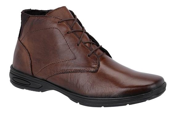 Bota Masculino Coturno Confortável Couro Legitimo Tchwm Shoe
