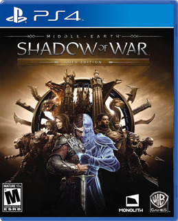 Middle Earth Shadow Of War Gold Edition Steelbook Ps4 Fisico