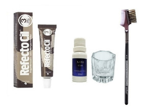 Refectocil 3 Já Com Oxidante + Copinho + Pincel Para Aplicar