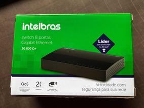 Switch Intelbras Gigabit 10/100/1000 8 Portas - Sg 800 Q+