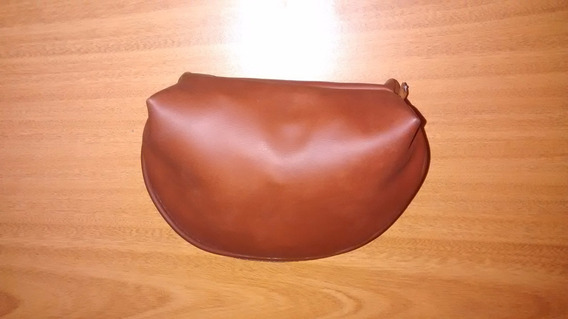 Monedero Carterita Marron De Eco Cuero 18cm