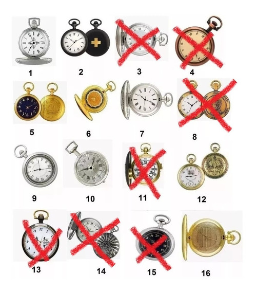 Coleção Relógios De Bolso Históricos (10 Un)