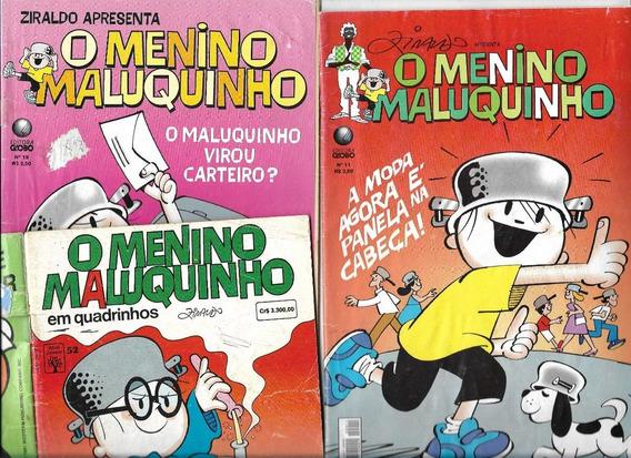 03 Gibis Menino Maluquinho Nº 52-11-19 (1992) Super Promoção