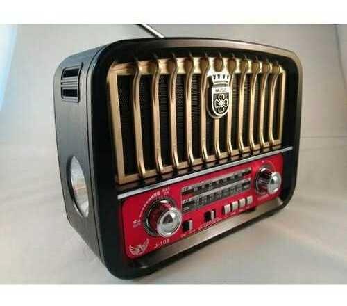 Caixa Radio Retrô Antigo Caixa Caixinha De Som Bluetooth