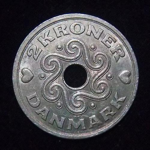 Dinamarca 2 Coronas 1993 Exc Km 874.1