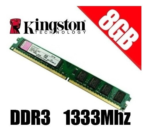 Memória 8gb Ddr3 Kingston 1333 Mhz