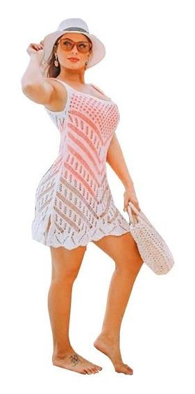 Saída De Praia Vestido Tricot Verão 2020 Modelo Blogueira