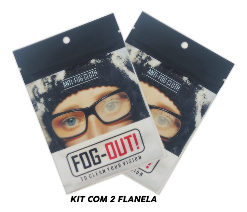 Imagem 1 de 5 de *promo* Kit 2 Flanelas Antiembaçante Óculos, Viseira