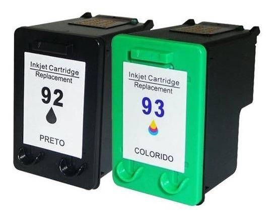 2 Cartucho Tinta Compatível Microjet Substituição Para 92 93