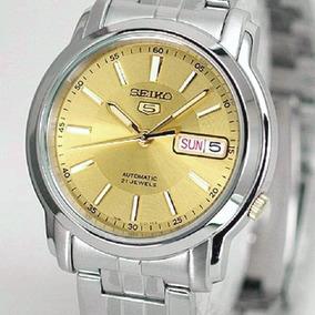 Relógio Seiko Automático Médio Masculino Aço Snkl81k1